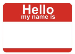 Empty name tag